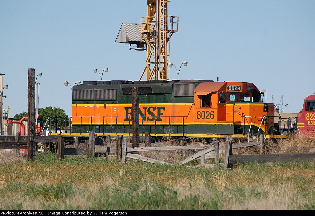 Burlington Northern Santa Fe Railway (BNSF) EMD SD40-2 No. 8026