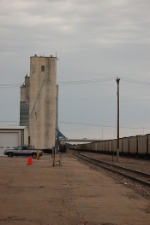 Grain Elevator and Open Hoppers