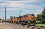 Eastbound Burlington Northern Santa Fe Railway Unit Grain Train