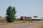 Westbound Burlington Northern Santa Fe Railway TOFC Freight Train