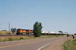 Burlington Northern Santa Fe Railway TOFC Freight Train