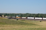 Eastbound Burlington Northern Santa Fe Railway Mixed Freight Train