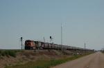 Westbound Burlington Northern Santa Fe Railway Unit Grain Train