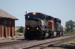 Burlington Northern Santa Fe Railway Engine Move - Three Color Schemes