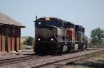 Burlington Northern Santa Fe Railway Engine Move - Three Color Schemes