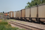 Going away shot of Westbound Burlington Northern Santa Fe Railway (Empty) Unit Coal Train