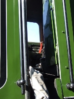60800, sander lever glimpsed through the tender/cab gap.