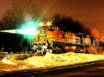 A very different look at the BNSF 5199 at night