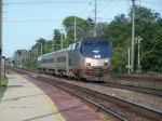 Amtrak 69 flies through Belmont