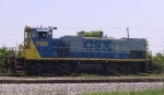 CSX 1169 works a cut of cars