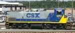 CSX 1172 sits outside the shops at Acca Yard