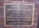 Stevenson Depot Sign