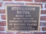 Stevenson Hotel Sign