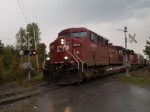 CP 8654 leads a SB manifest at 1:10pm