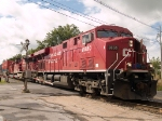 CP 8850 pulling in for a quick crew change at 12:03pm