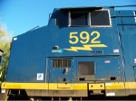 CSX 592 Cabside