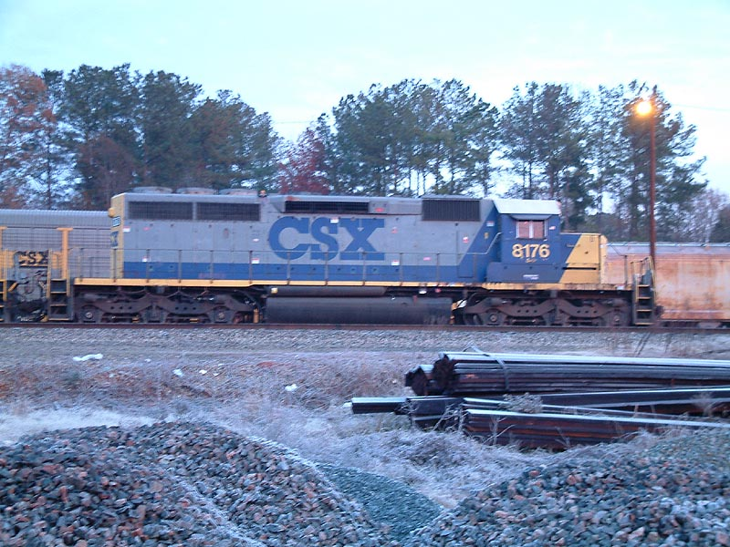 CSX 8176 in the morning