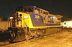 Nightshot of CSX 7879