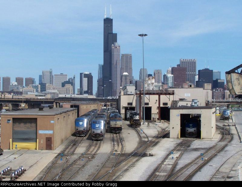 Various power sits under the skyline
