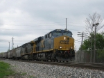CSX 840 Leads Southbound Grain Extra