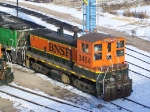 BNSF 3454 Idles on a Cold December Day