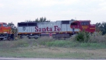 BNSF 8221 SD75m Still in ATSF Warbonnet Paint!