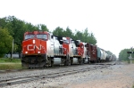 Westbound CN freight flies by