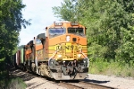 Eastbound BNSF freight catches us off guard