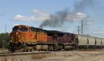 Westbound grain train departs