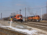 IHB and BNSF race each other