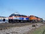 Metra 405 meets BNSF 7532