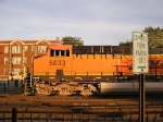 BNSF 5833 Illegally Parked