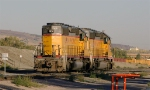 SD40-2s working the yard