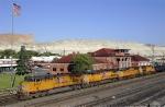Westbound freight departs