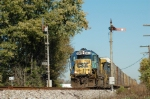 CSX Q247 splits the blades southbound on the former Monon