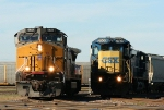 UP 9621 and CSX 7505