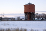 Red wood water tower