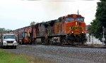 EB CSX grain trains passes through the work limits