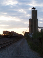 Northbound Intermodal Past the Bunge Corp. Elevator