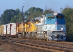 Northbound UP Manifest Train - UP 4141 The George Bush 41 Locomotive