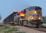 Northbound Auto Train With UP and KCS Locomotives