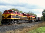 Northbound KCS Empty Grain Train With Southern Belle KCS SD70ACe's