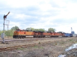 Northbound BNSF Empty Coal Train Passes the Last Semaphore