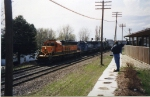 BNSF 6904 leading two Conrail units and another BN unit