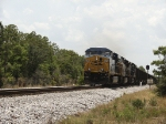 CSX 5474 with two AC4400CW's charges sellers siding at 50 mph.