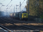 55022 'ROYAL SCOTS GREY' approaches Huntingdon on 1Z50, the 0720 King's Cross to Inverness charter.