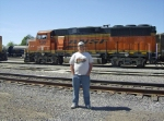 Yours truely poses next to BNSF 130