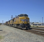 UP 5293, a 206 car manifest train