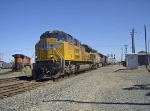 UP 8517 passes the DPU from the BNSF Manifest