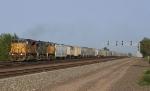 Westbound grain train on #1